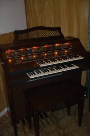 Baldwin Fanfare Organ with fun machine - $700 (east tx)