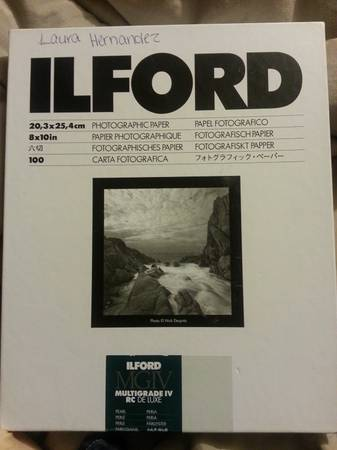 Ilford film paper 100 sheets  -   x0024 50  Kilgore