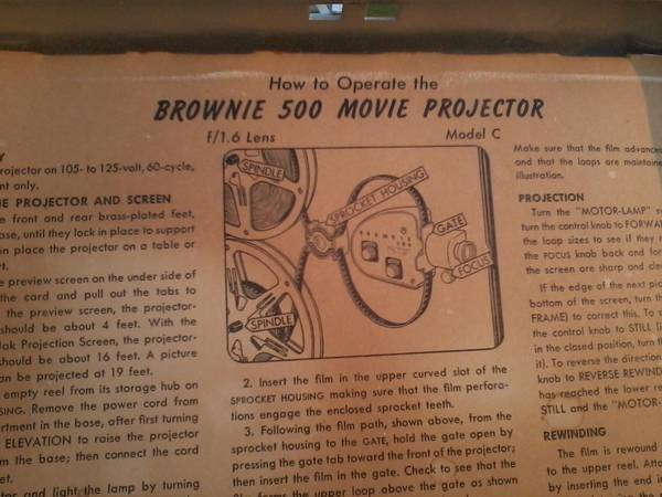 vintage brownie 500 movie projector - $75 (tyler lindale)