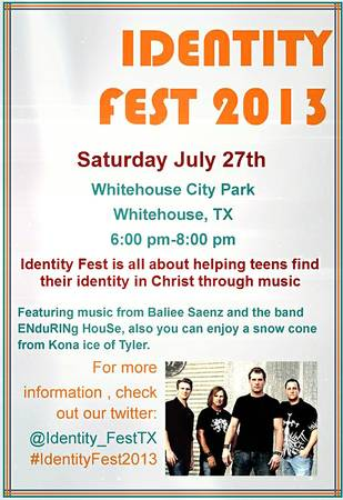 7 26-7 27  Christian Music Festival-ALL AGES-SATURDAY  Whitehouse Tyler
