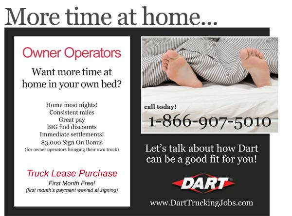 Owner Operator Truck Drivers Needed   Home Most Nights      tyler   east TX