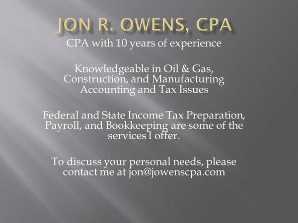 CPA TAX PREPARATION AND ACCOUNTING  EAST TEXAS