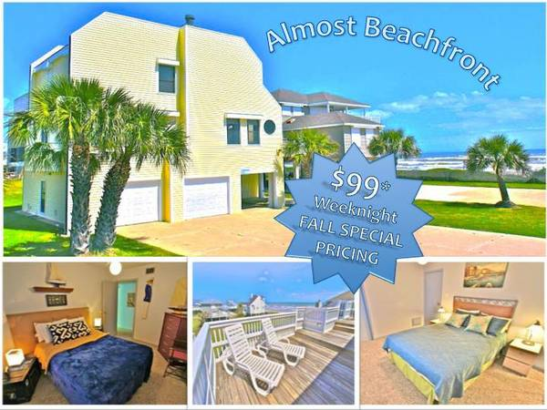 Almost Beachfront Vacation Rental in Galveston $99Weeknight