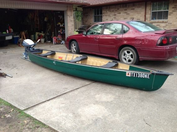 Double wide flat back canoe - $500 (Porter,tx. )