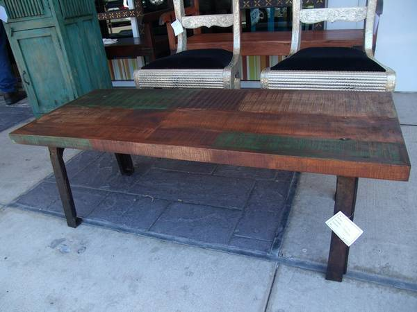 Cast Iron and Wood Coffee Table - $292 (Nadeau - Furniture With a Soul)