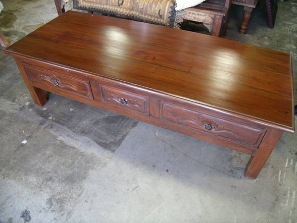 Coffee Table 3 Drawers - $247 (Nadeau- Furniture With a Soul)