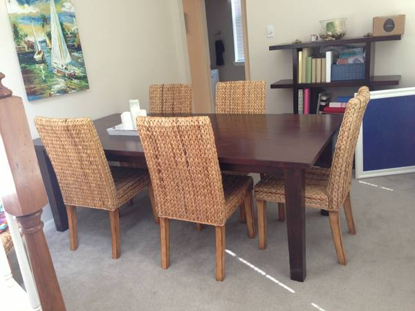 Pier 1 Torrance Dining table and Largo Seagrass chairs - $500 (League City, TX)