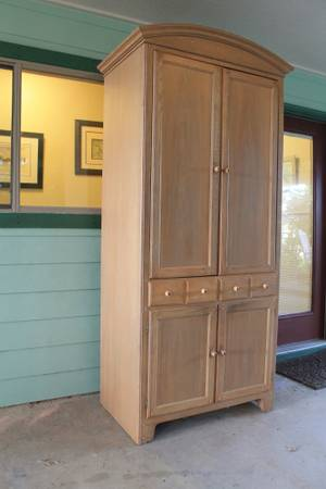 Oak Entertainment Armoire - $100 (West End)