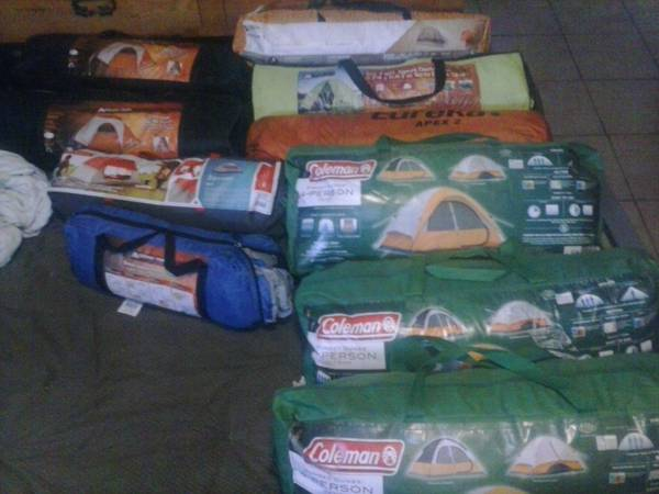 Many nice tents used once for a good deal - $10 (galveston)