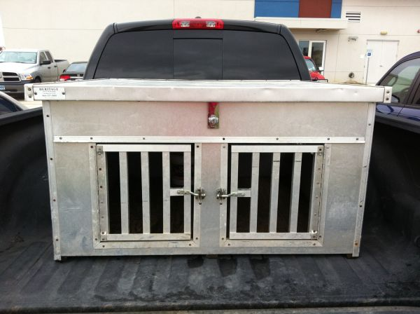 aluminum dog box with top storage - $320 (Pearland area)