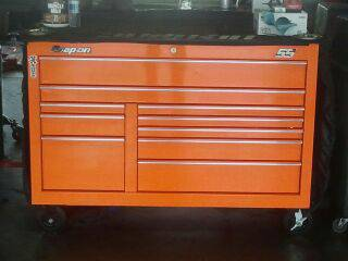 2013 Chevy orange Snap-On TOOL BOX - $5000 (Dickinson)