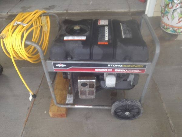 Briggs and Stratton Storm Responder 5500 portable generator - $500 (galveston)