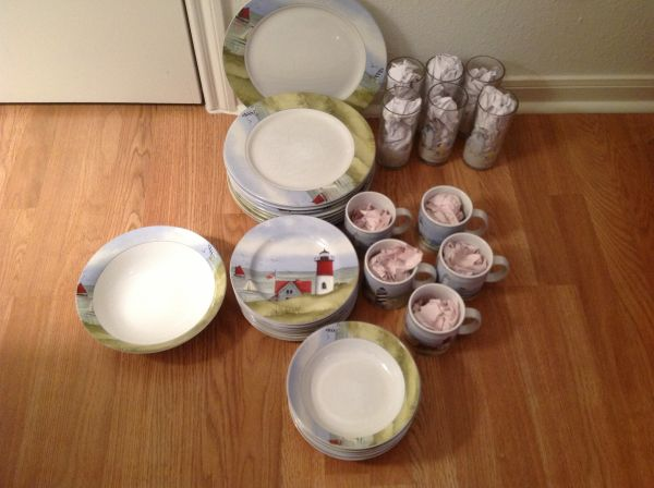 Sakura, Gracey Knight Nantucket Shoreline dishes - $140 (Galveston)