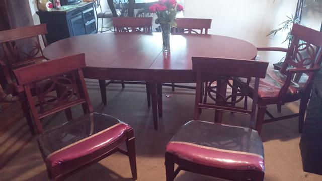 450  antique dining table