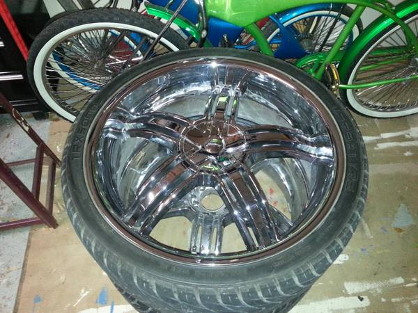 Forte F9 Chrome 26 inch rims wheels  - $1000 (galveston)