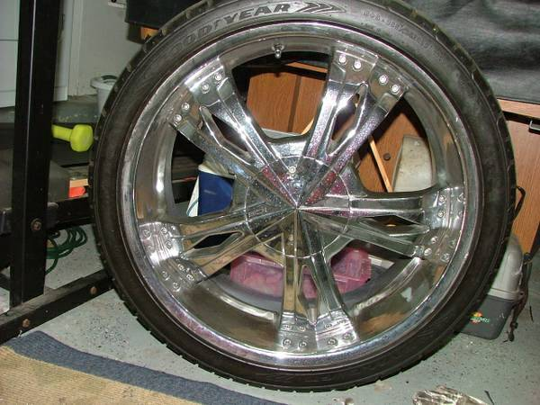 5 lug 22 inch Rims and Tires - $700 (Texas City)