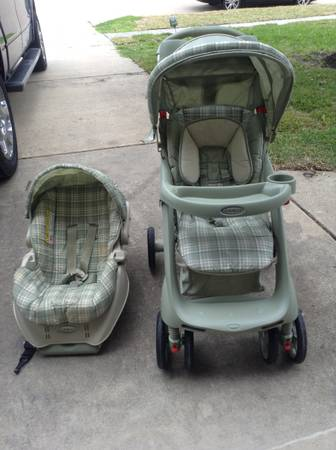 Green Graco Stroller Car Seat - $85 (League City)