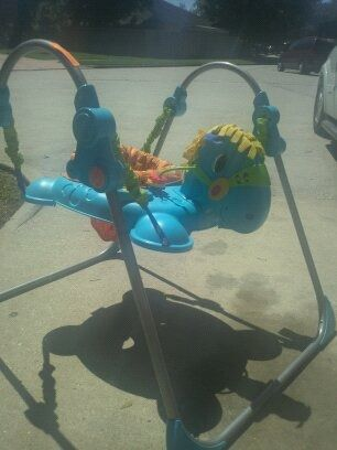 Fisher price galloping Jumperoo horse  - $35 (Texas city 77590)