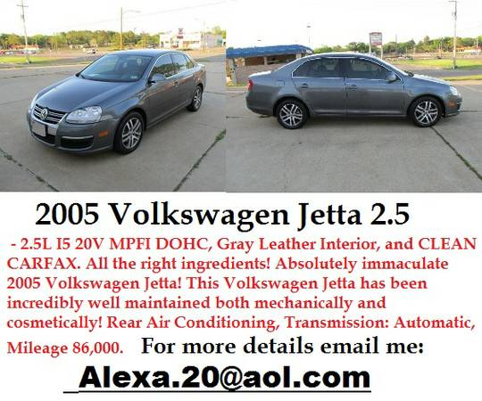 Excellent Condition 2005 Volkswagen Jetta - $1931 (galveston)