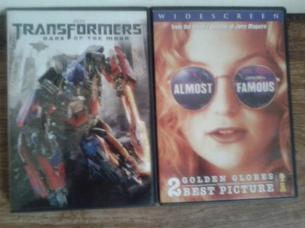 Transformers and Almost Famous DVD S Movies -   x0024 2  Texas City