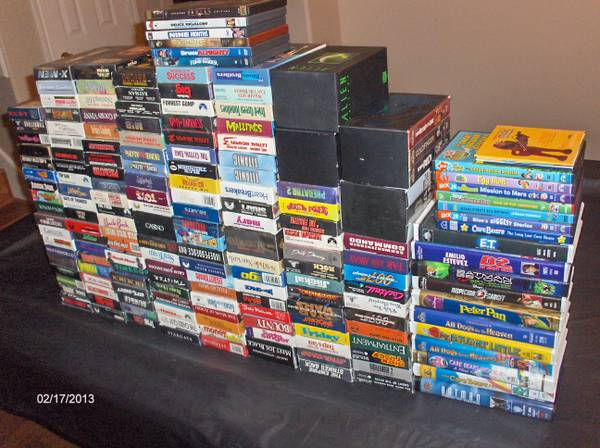 HUGE MOVIE COLLECTION - 173 VHS 14 DVD - $75 - $75 (Spring, TX)