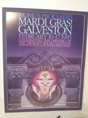 REDUCED  Authentic Mardi Gras Poster 1985 -   x0024 40  Freeport