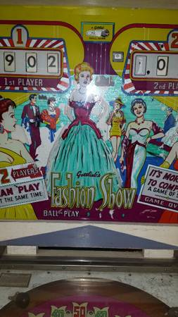 Late 50s early 60s pinball machine -   x0024 750  Galveston
