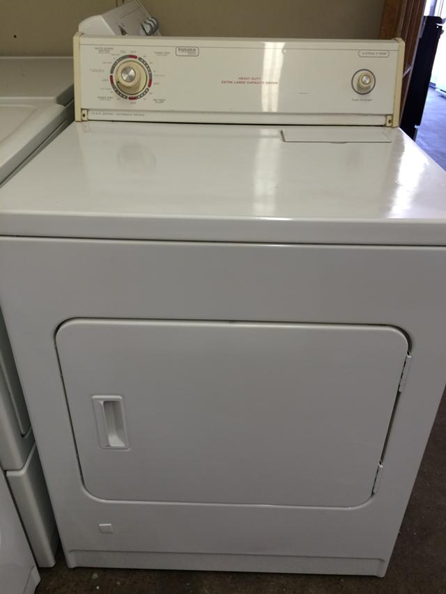 150  Estate by Whirlpool Gas Dryer in White-AS-IS