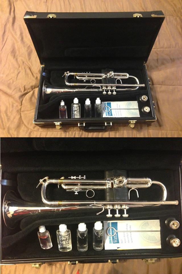 Bach Omega Silver Trumpet Model MG290  Accessories - $1,600