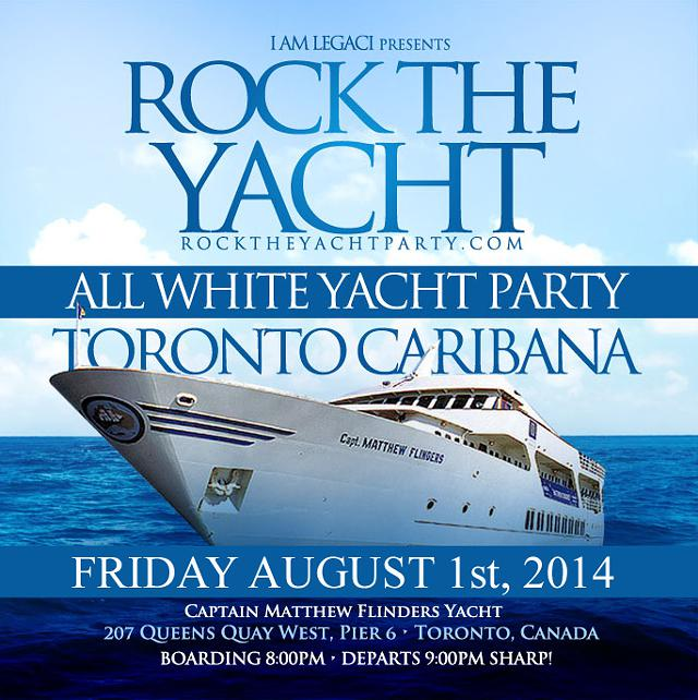 Rock The Yacht Toronto Caribana 2014 Annual All White Yacht Party