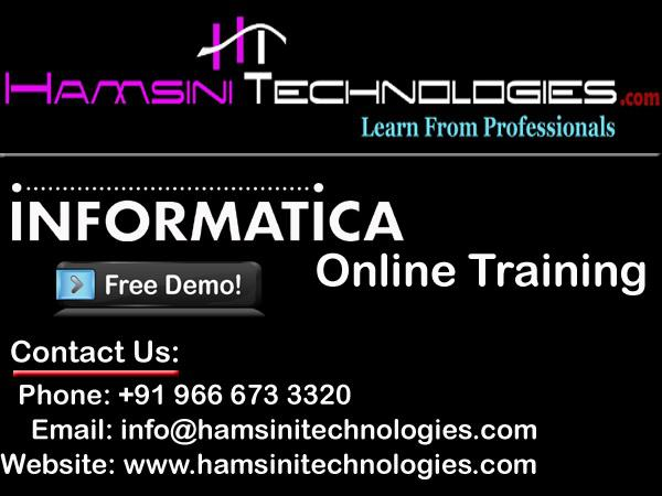Informatica Online Training in Hyderabad