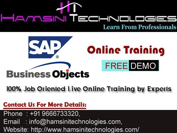 SAP BO Live Online Training by Industry Experts