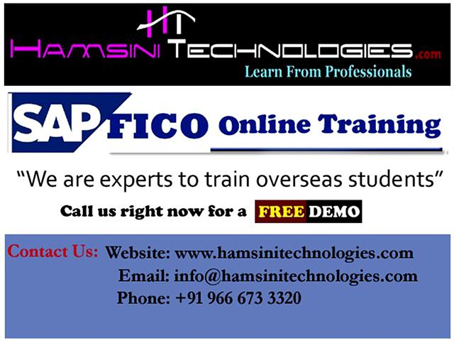 SAP FICO Online Training with Live Projects