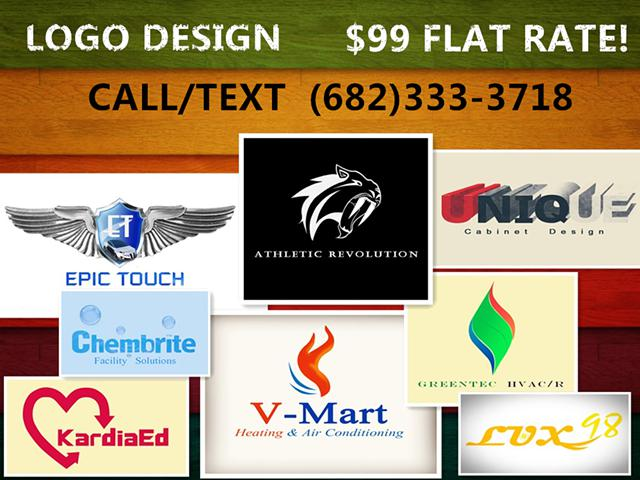 Professional Logo Design For Small Business -  99 Flat Rate Local Texas Team