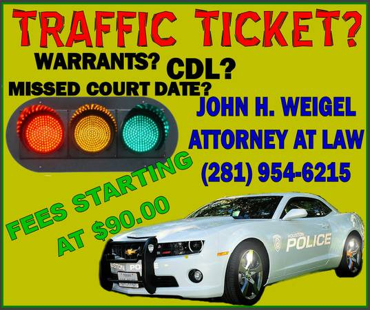 TRAFFIC TICKETS  POINTS ON YOUR TDL  CDL  I can help   281-954-6215