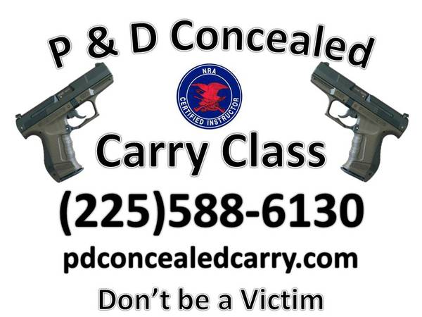 Concealed Carry Class   Walker  LA