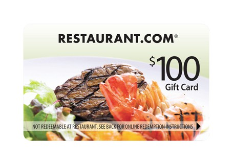 100 RESTAURANT Gift Certificate  A PAID VACATION for 2 FREE Just for joining us