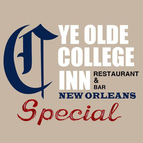Ye Old College Inn - 3000 South Carrollton Ave   New Orleans  LA 70118 - Ph 504 866 3683