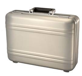 Gold Zero-Halliburton brief case - $200 (Shenandoah, Baton Rouge)