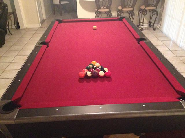 1 800  New Perfect condition 4x8 Pool Table  Slate Base
