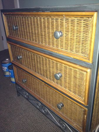 Pier One Wicker 3 Drawer Dresser and Armoire - $150400 (New Orleans Warehouse District)