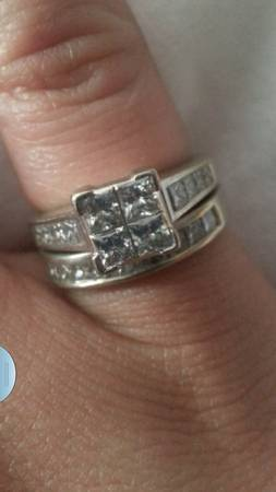 3 ct  14k  white gold ring set size 7 5 -  3500  houma  louisiana