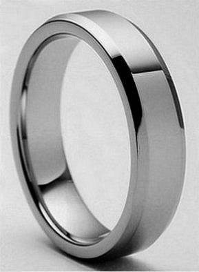 Tungsten Carbide Flat Polished Band  6 mm  -  60  Houma