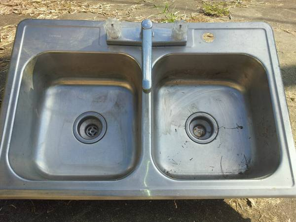 Stainless Steel Double Sink -   x0024 25  Morgan City