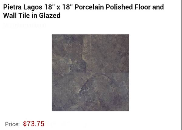 18  x 18  Polished Porcelain Tiles -   x0024 65  Houma  La
