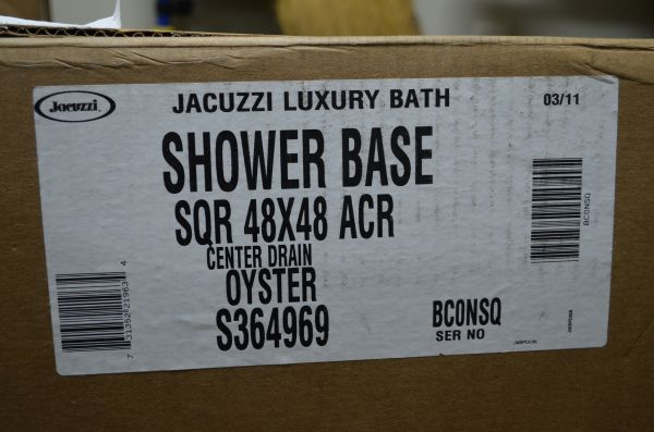 Jacuzzi 4 X 4 Shower Base - $225 (Thibodaux, LA)