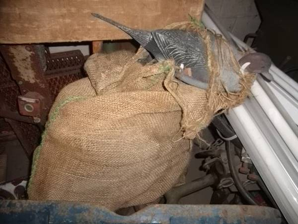 Nylon Sack of Duck Decoys (Pintails and Mallards) - x002430 (The Regional Military Museum)