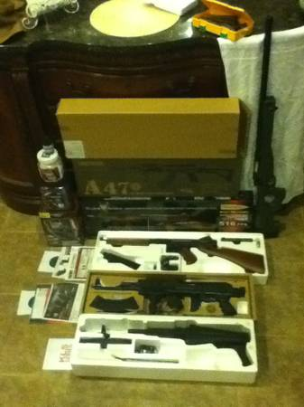 3 SEMI AUTOMATIC AIRSOFT TOMMY GUN 2 -AK47 1 BOLT ACTION ALL LIKE NEW - $1 (LUCEDALE, MS)