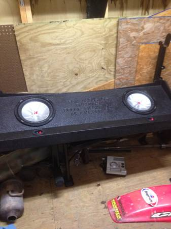 Fox speaker box 2-10 subwoofers (box only) - $100 (Schriever, LA)