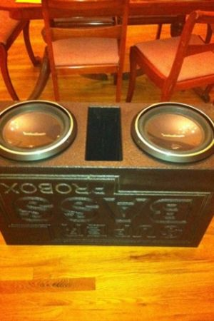 2 Rockford Fosgate mint condition P3 12 inch subwoofers in a super bass Probox - $300 (Houma)